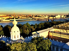 St. Petersburg | Russia (maryduniants) Tags: bluesky belfry colors sunset sobor smolny river neva stpetersburg russia