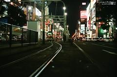 The Road to Success is Not Always a Straight Line ([M!chael]) Tags: nikon f3hp nikkor 5014 ai kodak ultramax400 japan hokkaido sapporo susukino manual film street fim maual night