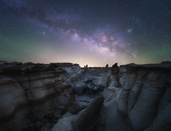 Maze Finder (bryanchong.photo) Tags: maze finder bisti badlands new mexico landscape landscapes wide angle milky way panorama long exposure astro nightscape stars