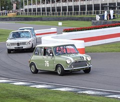 Green is the theme #2 (MJ Harbey) Tags: car racetrack chicane goodwood goodwoodrevival revival goodwoodrevival2018 westsussex mini morris cooper minicoopers morrisminicoopers stmarystrophy nikon d3300 nikond3300 bmw nickswift