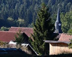 Bürden´s roofs (:Linda:) Tags: germany thuringia village bürden church roof conifer clock slateshingled spire