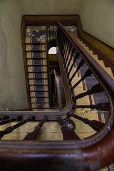 Upstairs (JG - Instants of light) Tags: staircase stairs handrail wall blackstrip decaying creepy abandoned escadaria escadas corrimão parede faixapreta decadente arrepiante abandonado urbex urbanexploration exploraçãourbana nikon d5500 sigma 1020 portugal