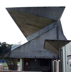 Netherdale Football Stadium (Ross_Angus) Tags: bordersbrutalism peterwomersley netherdale footballstadium architecture brutalism building