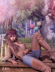 Weekend in Provence (Ary McAuley) Tags: sl second life fashion blog outfit addams avaway blueberry navycopper bossie catwa arte studio exposure livia milk motion foxcity