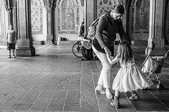 Dance Like Someone is Watching (Phil Roeder) Tags: newyorkcity nyc manhattan centralpark blackandwhite monochrome leica leicax2 mother daughter dance dancing
