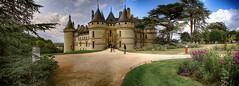 Chateau et communs de Chaumont sur Loire (angelobrathot) Tags: chateau loire jardins fleurs panorama
