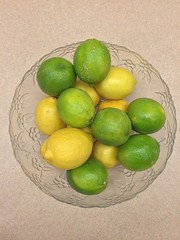 Bowl of Lemons & Limes (joncutrer) Tags: ingredients cooking grocerystore vegetables food edible groceries produce royaltyfree cc0 green yellow sour fruit lemon lime