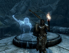 Katria ~ Lost to The Ages (Rain Love AMR) Tags: losttotheages aetheriumcrest astrolabe ghost specter woodelf bosmer torch screenshot screencap skyrim bthalft