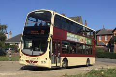 Go Ahead East Yorkshire 715, YX07HKB. (EYBusman) Tags: go ahead east yorkshire motor services eyms hull bus coach north hornsea depot cliff road wright eclipse gemini volvo b9tl yx07hkb eybusman