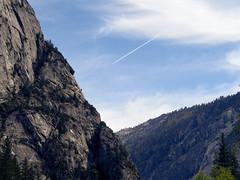 Airplane Over Mirror Lake (marcocarag) Tags: california unitedstates us airplane yosemitenationalpark
