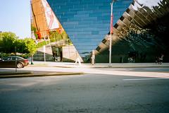 112525020016 (elsuperbob) Tags: architecture cleveland ohio museum museumofcontemporaryartcleveland mocacleveland farshidmoussavi glass reflections olympusxa kodak portra160 kodakportra160