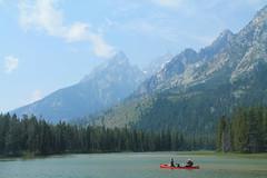 String Lake, Grand Teton National Park (Bob B1981) Tags: mountains grandtetons stringlake nationalpark lake canoe haze grandtetonsnationalpark