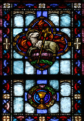 Sacrifice of the Passover Lamb (Lawrence OP) Tags: agnusdei greensburg pa stainedglass passover lamb jesuschrist chalice eucharist sacrifice