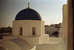 Dusk & Church (•Nicolas•) Tags: 200iso c41 color couleur film grece greece holidays ile island kodak leica m4p santorini tourism tourisme vacances nicolasthomas