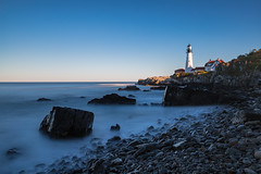 A Rocky Coast (Bob90901) Tags: rocky coast maine capeelizabeth afternoon autumn shore portlandheadlight longexposure rocks rpg90901 seashore seascape shoreline ocean sky water landscape canon 6d canonef2470mmf28liiusm filter neutraldensity lee bigstopper nd10 nd lighthouse 2016 october 1654