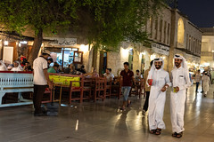 Thursday evening in Souq Waqif (Marcello Arduini) Tags: doha souq evening guys promenade laughs walking tradition qatar street