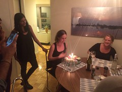 Kate's birthday (olive witch) Tags: 2015 abeerhoque candle fem group indoors night nyc oct15 october