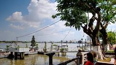 Contemplando el delta del Mekong (Raúl Alejandro Rodríguez) Tags: rio river arboles trees barcos ships vessels agua water song sai gon ho chi minh city vietnam