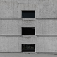 cube 1 (morbs06) Tags: nationalparkzentrum swiss valerioolgatti zernez abstract architecture building concrete facade geometry light lines museum pattern repetition shadow square stripes texture windows
