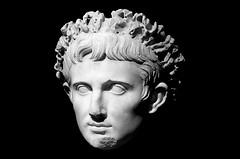 Emperor Augustus (pjpink) Tags: art napoleon exhibit virginiamuseumoffinearts virginiamuseum museum vmfa historical july 2018 summer pjpink 2catswithcameras bust sculpture blackandwhite bw monochrome