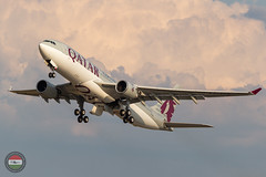 Qatar Airways A332 (ferenckobli) Tags: budapest hungary hu airplane aircraft airliner airport aviation