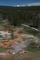 redstreamoverlook1 (laelia74) Tags: yellowstone geothermal stream red outside nature wyoming
