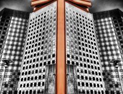 La Defense 4 (beelzebub2011) Tags: europe france paris ladefense architecture selectivecolor hdr composite