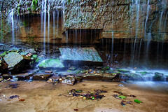 Hidden Falls - Nerstrand Big Woods State Park (j-rye) Tags: sonyalpha sonya6000 sony a6000 ilce6000 mirrorless waterfall creek sand rock prairiecreek moss leaves nerstrandbigwoodsstatepark hiddenfalls 126lkg