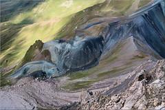 on the moon ? (or is it venus?) (Bernergieu) Tags: weissfluhgipfel switzerland schweiz davos graubünden berge mountains colours landscape nature rocks felsen meadows wiesen lookingdown inexplore