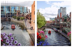 The Waterbus Comes and Goes (Jason_Hood) Tags: canal birminghamcanal brindleyplace birmingham narrowboat