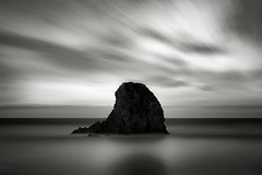 Pacific Dayspring (StefanB) Tags: 1235mm 2017 bw california coast em5 geotag horizon longexposure monochrome outdoor pacific pismobeach sea seascape