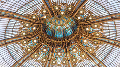 Ceiling of Galeries Lafayette (leloops.berlin) Tags: paris shopping galeries lafayette luxury france europe ceiling gold mall