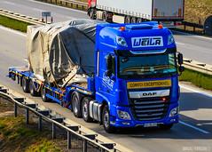 DAF XF106 II SSC / Weila (D) (Maciej Korsan) Tags: daf xf euro 6 weila convoi exceptionnel germany
