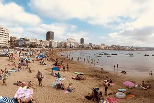 Playa de Las Canteras, Gran Canaria.