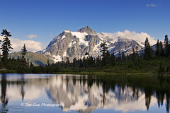 Mount Shuksan Reflects in Picture Lake in Mt. Baker-Snoqualmie National Forest, Washington, USA (PhotoDG) Tags: mountshuksan reflection picturelakeinmtbakersnoqualmienationalforest washington mt baker landscape lake picturelake mtshuksan shuksan ef1635mmf28liiusm wideangle