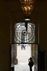 Fanlight, Lantern, Doorway - and Lone Figure (John of Witney) Tags: doorway figure portal lantern chapel church oldroyalnavalcollege greenwich london