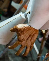2018 Buskers in the Burg, Workshop (Dennis Valente) Tags: workinprogress 5dsr workshop l200 washington art papermache 2018 usa puppet foam buskersintheburg ellensburg pnw puppetry giantpuppet