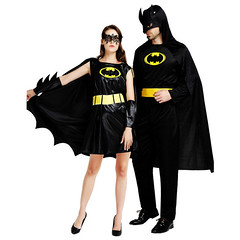 2018 new Black Batman costume for man womens Super hero Couple Cosplay clothing Masquerade Party Halloween (robynrihanna623) Tags: halloween halloween2018 halloween2018costumes h