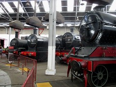 Well what would expect in a roundhouse? (White Pass1) Tags: butlerhenderson chesterfield barrowhillroundhouse turntable roundhouse steamlocomotives smokehoods steamage smoke grime