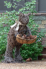 Bearly adequate (A Different Perspective) Tags: california southlaketahoe usa basket cone green ornament pinecone wall wood