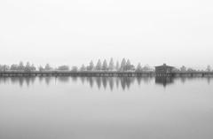 Biwako (Andrew Allan Jpn) Tags: lake blackandwhite pentaxart pentax pentaxk30 sigma175028 reflection zen placid peace evening