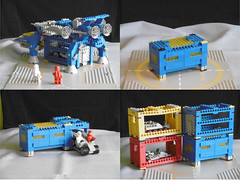 """CSCS (Classic Space Cargo System): The Space Cargo Unit """"SCU"""" (Nils_O.) Tags: lego classic space cargo system unit container"""
