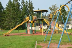 Everett On The Swings (Joe Shlabotnik) Tags: 2018 aroostook august2018 everett justeverett maine playground vanburen afsdxvrzoomnikkor18105mmf3556ged