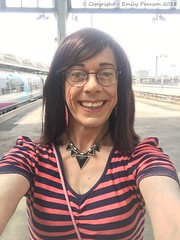 August 2018 - Leeds Pride weekend - LFF (Girly Emily) Tags: crossdresser cd tv tvchix tranny trans transvestite transsexual tgirl tgirls convincing feminine girly cute pretty sexy transgender boytogirl mtf maletofemale xdresser gurl glasses dress hull station train