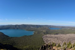 Paulina Lake, East Lake and Big Obsidian Flow (daveynin) Tags: oregon newberry lake peak caldera lava flow