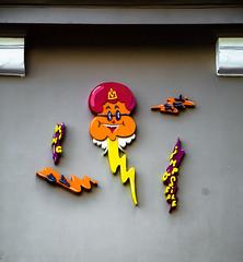 HH-Installations 2074 (cmdpirx) Tags: hamburg germany reclaim your city urban street art streetart artist kuenstler graffiti aerosol spray can paint piece painting drawing colour color farbe spraydose dose marker stift kreide chalk stencil schablone wall wand nikon d7100 installation install cement glue kleber klebstoff tile kachel styrodur styropor vinyl lp cd style guerilla knitting yawn bombing tape inst cutout yarn