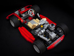 "Model# 4955-3 ""Go-Kart"" (2007) (steviep187) Tags: lego gokart canon eos xsi rebel dslr red black white yellow blue dark vignette toy collection hobby fun indoors plastic car 2018 2007 4955"