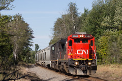 CN 2101 Lublin, WI (SP Patch) Tags: ge c408 cn canadian national 2101 ic illinois central 1020 lublin wi wisconsin canon eos 60d