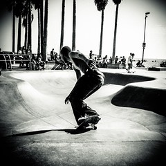 (CEBImagery.com) Tags: skate board skateboard man people outdoors monochromatic skater california venice beach