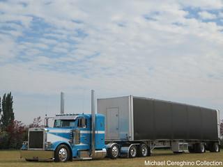 Joel Olson Trucking's Peterbilt 379, Truck# 27